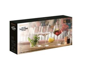 4 Nachtmann Gin &Tonic Gläser Tastes Good + 4 Glastrinkhalme +Reinigungsbürste