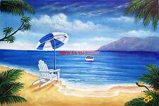 "24x36""100% hand painted oil flat,/Ocean/Beach/Seascape/Sea Wave/ Light House"