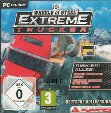 PC CD-ROM + Wheels of Steel + Extreme Trucker + Truck + sillín trenes + win 7 +