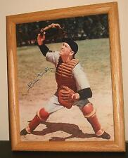 Bill Dickey Signed Color Photo HOF Yankees Catcher Ruth Gehrig Teammate Framed