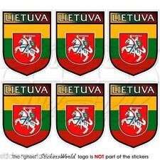 LITHUANIA Lithuanian Shield LIETUVA 40mm Mobile Cell Phone Mini Sticker-Decal x6