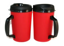 2 Foam Insulated 20 oz. ThermoServ Travel Mugs Red