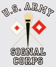 ARMY SIGNAL CORPS LOGO MILITARY CAR WINDOW DECAL