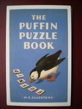 POSTCARD ADVERT PUFFIN BOOK COVER - PUFFIN PUZZLE BOOK - W E GLADSTONE