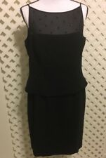 Jones New York Women's Size 14 Spaghetti Strap Elegant Black Beaded Lace Dress