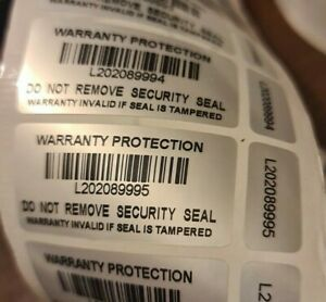 Warranty Void Double Labels Tamper Proof Evident  Security Seal Stickers 2-Part