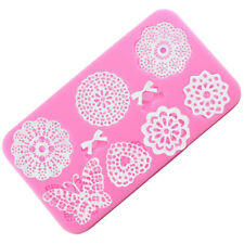 Butterfly Flower Lace Silicone Fondant Molds Cake Border Party Decorating Tools