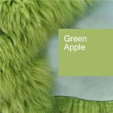 Top Eco Lambskin Sheepskin Skins Green Apple Green New L-XL