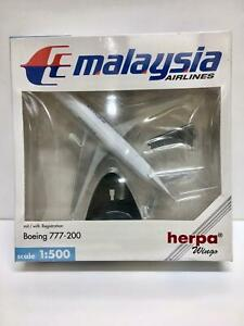 Herpa Wings Malaysia Airlines Boeing 777-200 9M-MRH 506540