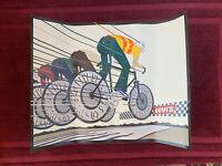 Levi's Jeans Vintage Poster Advertising Display Michael Schwab Cycling Bicycle