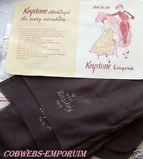 1954   KEYSTONE   CUBAN SEAM STOCKINGS