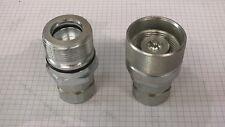 """3/4"""" Hydraulic Screw Together Under Pressure Poppet Coupler ISO 14541 3600 PSI"""