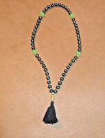 Black/Green Beads Nature stones chrysoprase & gluten Rosary (Handmade)New