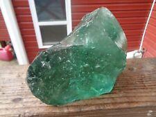 New listing Glass Rock Slag Clear Green Bubbles 5.14 lbs Rocks Ww9 Landscaping Aquarium