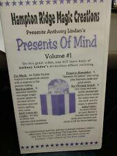 Presents of Mind, Volume 1 Lindan Anthony Vhs Tape