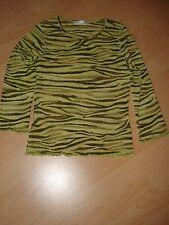 Top /Shirt, Gr. S,Rundhals,Figurbetont,Stretch,3/4 Arm,Grün/oliv ,Polyest,Promod