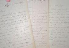 3 longues lettres du premier ministre du Québec, Pierre-Joseph-Olivier Chauveau.