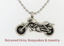 """Motorcycle Cremation Jewelry Keepsake Urn Pendant Memorial-20"""" Ball Chain Funnel"""