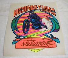 Harley Davidson Sportster Iron On Vintage Rats Hole