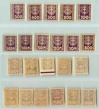 Danzig, 1923, SC J15-J25, mint, wmk 109, non, 1921-1930. e6172