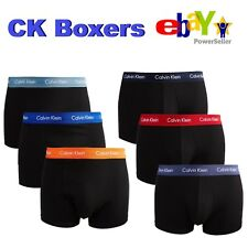 MENS CALVIN KLEIN BOXERS. THREE PACK OF CK BOXER TRUNKS. CALVIN KLEIN UNDERWEAR