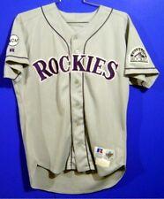 COLORADO ROCKIES MARK THOMPSON #32 Gray GAME ROAD MLB Size 46 JERSEY