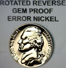 1959 ERROR ROTATED REVERSE Jefferson Nickel GEM PROOF Coin LOT #9   NO RESERVE
