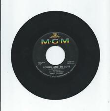 Chris Crosby: YOUNG AND IN LOVE; RAINDROPS IN MY HEART; MGM Records 45 rpm Vinyl