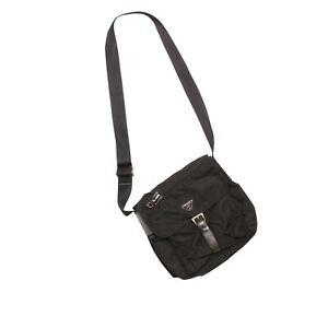 Prada Shoulder Bag Black Tessuto Nylon Small Crossbody Pouch