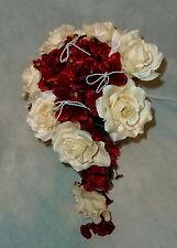 Brautstrauss Hochzeitsstrauß Bordeaux Creme Blumenstrauß Hochzeit