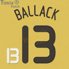 Name + Number Set Printing Ballack #13 2008 Germany Euro, Home Black And White