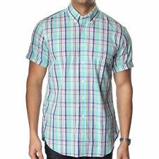 Gant Men's Button Down Short Sleeve Regular Casual Shirts & Tops