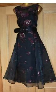 BNWT COAST LADIES FLORAL JACQUARD FIT AND FLARE MIDI OCCASION DRESS SIZE 12