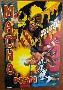 """Macho Man"" Randy Savage WCW Era Large Poster  Out of Print  1995 WWF WWE 23""x35"