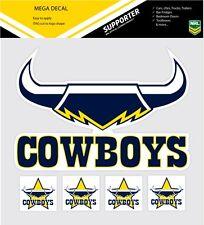 **NEW** NRL North Queensland Cowboys iTag Mega & Mini Decal Stickers Set