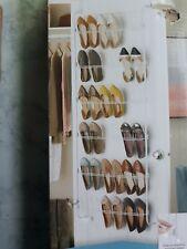 Shoe Rack, Over Door, 18pr. ,Whitmor 62-3/4 in. H x 22-1/2 in. W Epoxy, Open Box