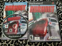 Burnout (Sony PlayStation 2, 2001) CIB w/ Manual COMPLETE- EXCELLENT !