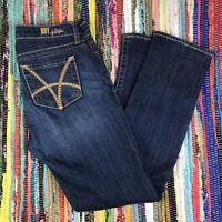 Kut From The Kloth Stevie Straight Leg Dark Wash Denim Jeans Women Size 6