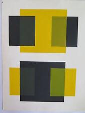 Josef Albers Original Silkscreen Folder XII-1/Right Interaction of Color 1963