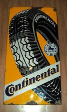 1930 OLD VINTAGE CONTINENTAL TIRE PORCELAIN ENAMEL SIGN EXTREMLY RARE GERMANY