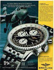 Publicité Advertising 1999 La Montre Breitling Old Navitimer