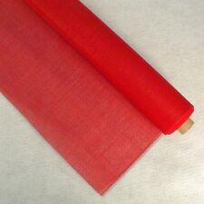 PET MESH VINYL SCREEN FABRIC RED  72 x 36 inches Totes,Handbags,Project Bags