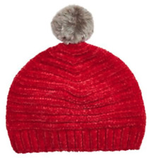 New First Impressions Baby Girl Hat Red Pom Pom Size 12-24 Months