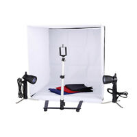 New Lighting In A Box Photo Studio Photography Light Tent Backdrop Kit Cube 60cm