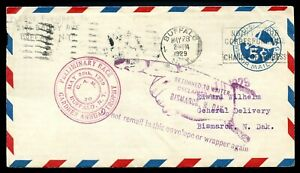 """U.S. UC1 Cover w""""Unclaimed"""" & """"Do not remail in this envelope or wrapper again"""""""