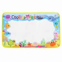Coolplay 59x36cm colourful rainbow water drawing mat with 2 pen water doodle 9B8