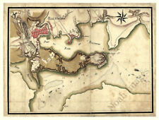 Map of Baltimore MD c1781 repro 16x12