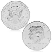 Hot American 45th President Donald Trump Silvery Commemorative Coins Token