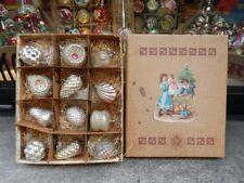 NATALE CHRISTMAS antiche decorazioni VETRO victorian tree decorations antique