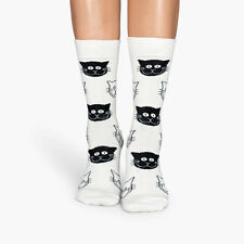 Men Women Socks Winter Warm Cotton Socks Cat Face Pattern Casual Sport Happy Sox
